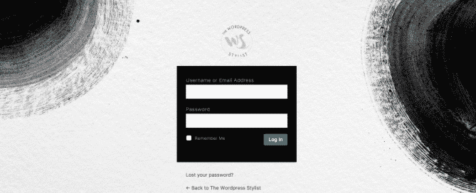 Wordpress Login Dashboard The Wp Stylist - Wordpress Web Design Services