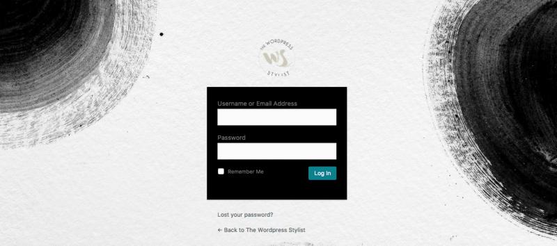 Wordpress Login Dashboard The Wp Stylist - Wordpress Web Design Services