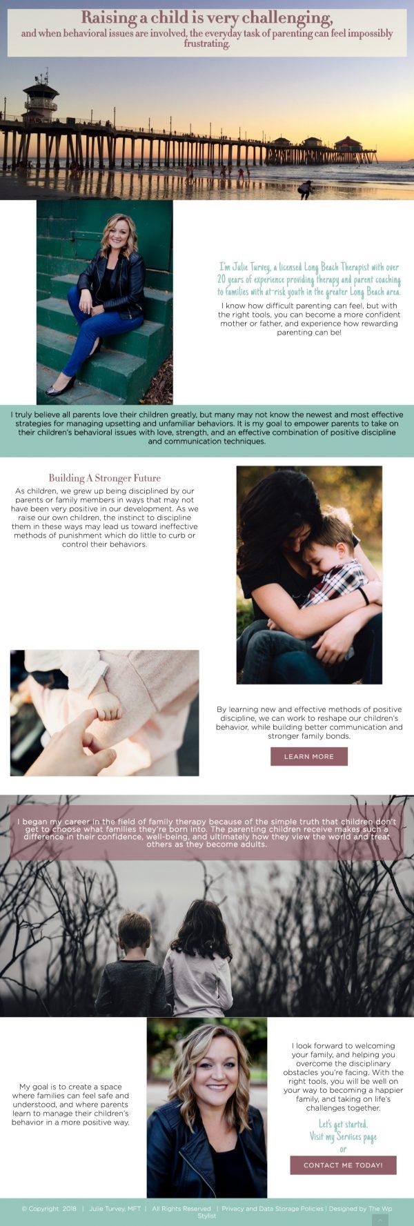 Julie Turvey Website The Wp Stylist - Wordpress Web Design Services