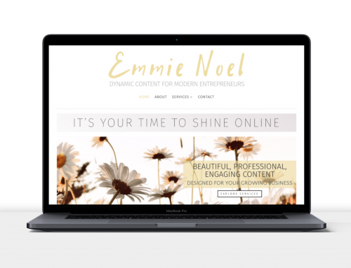 Creative Content Marketing – Emmie's New Website